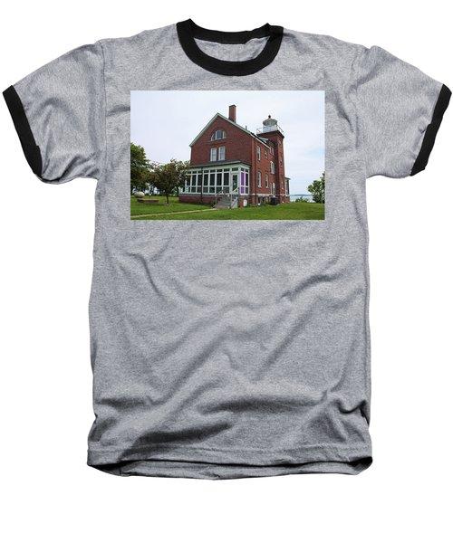 South Bass Island Lighthouse- Horizontal Baseball T-Shirt