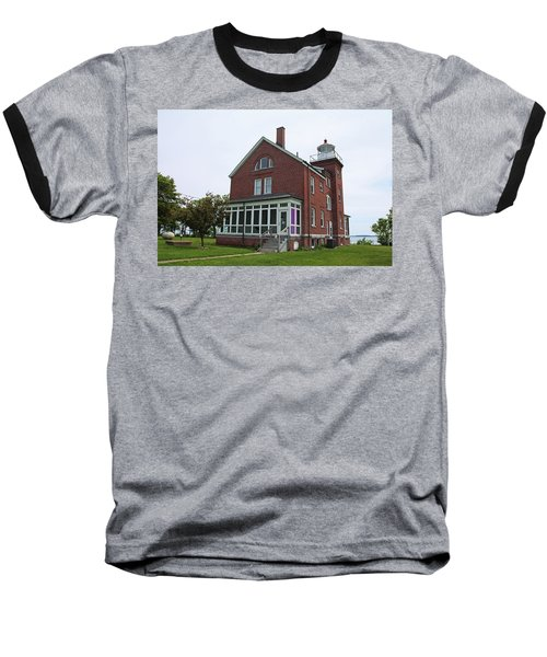 South Bass Island Lighthouse- Horizontal Baseball T-Shirt