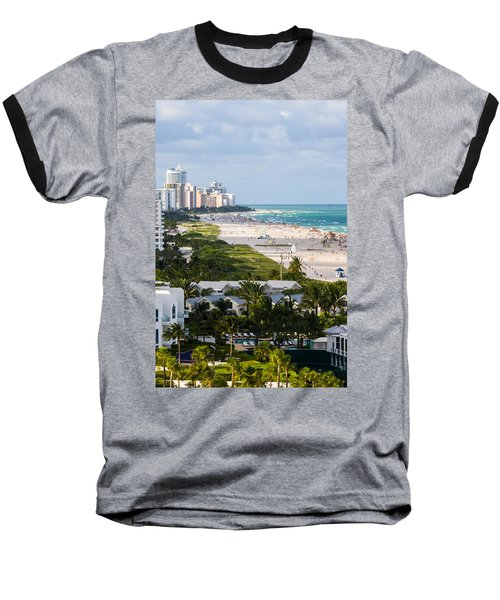 South Beach Late Afternoon Baseball T-Shirt by Ed Gleichman
