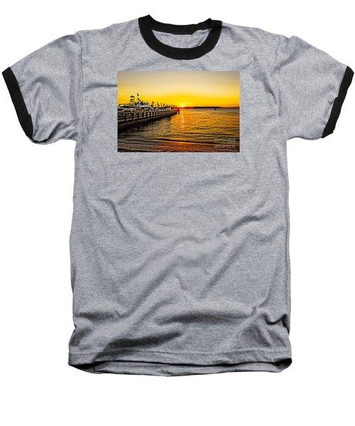 South Beach Sunset Baseball T-Shirt