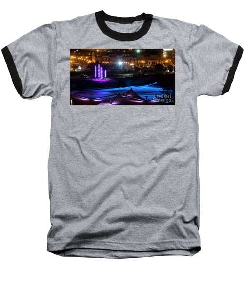 Baseball T-Shirt featuring the photograph South Bend River Night by Brian Jones