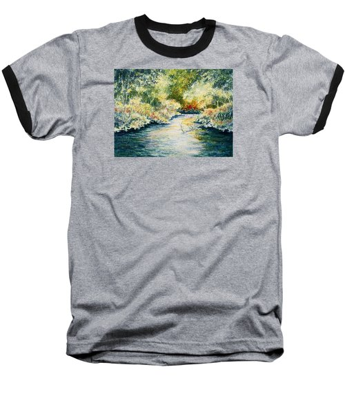 Baseball T-Shirt featuring the painting South Branch Of The Little Wolf by Carolyn Rosenberger