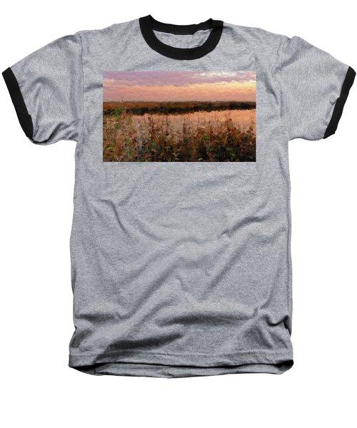 Baseball T-Shirt featuring the digital art South Carolina Evening Marsh by Anthony Fishburne