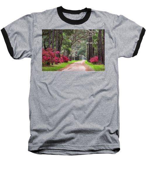 South Carolina Lowcountry Spring Flowers Dirt Road Edisto Island Sc Baseball T-Shirt