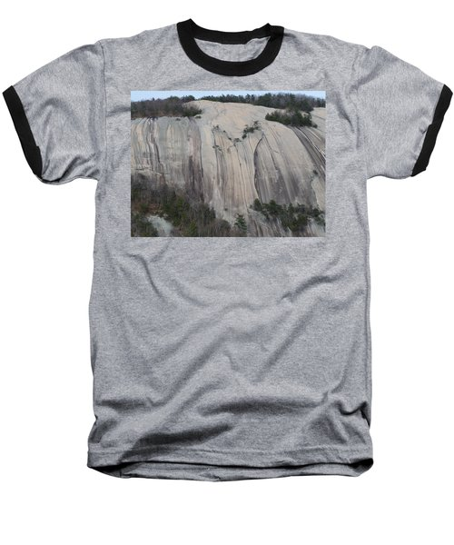 South Face - Stone Mountain Baseball T-Shirt by Joel Deutsch