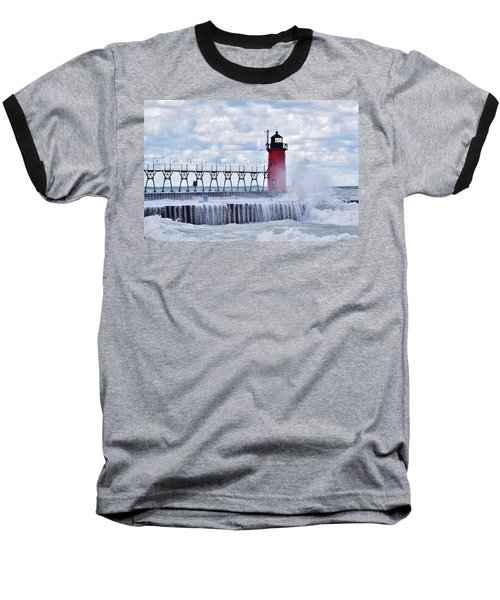South Haven Lighthouse Baseball T-Shirt