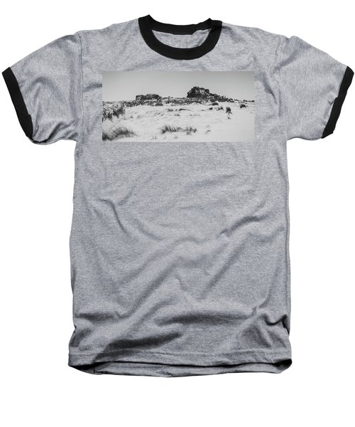 South Hessary Tor In The Snow Baseball T-Shirt