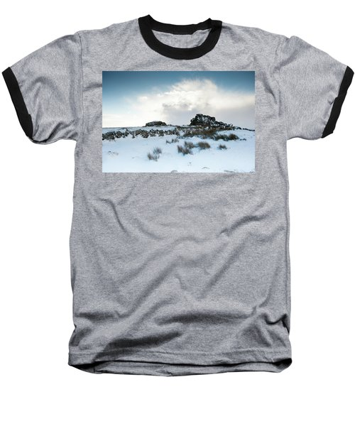 South Hessary Tor In The Snow II Baseball T-Shirt