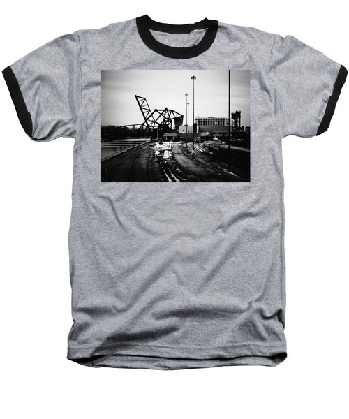 South Loop Railroad Bridge Baseball T-Shirt