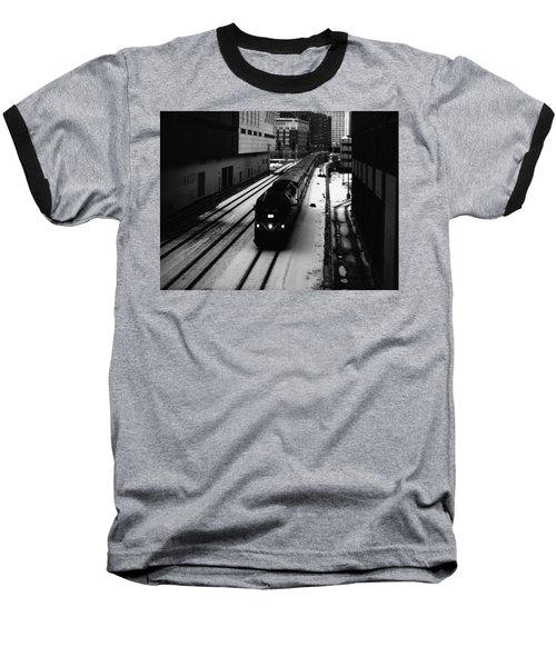 South Loop Railroad Baseball T-Shirt