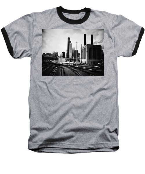 South Loop Railroad Yard Baseball T-Shirt