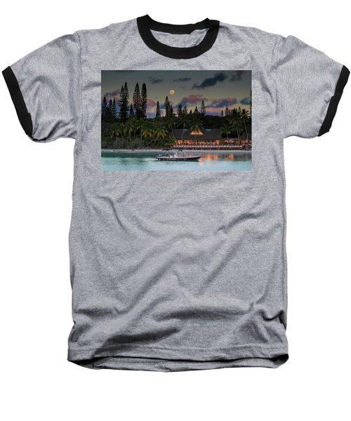 South Pacific Moonrise Baseball T-Shirt