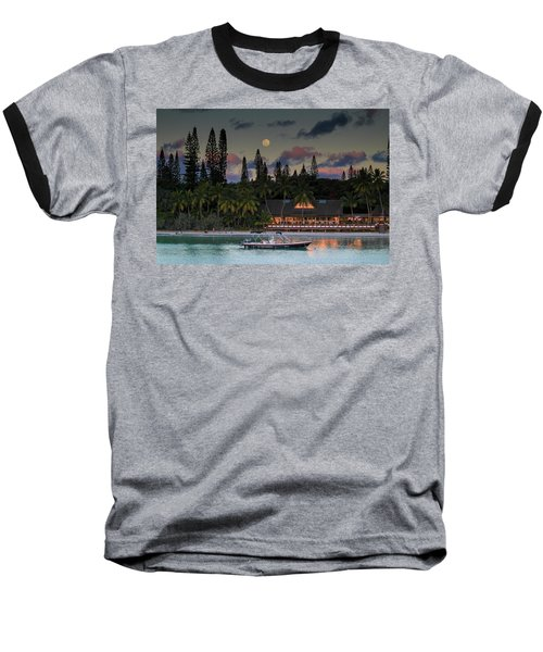 South Pacific Moonrise Baseball T-Shirt