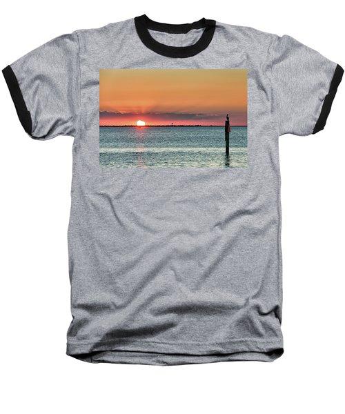 South Padre Island Sunset Baseball T-Shirt