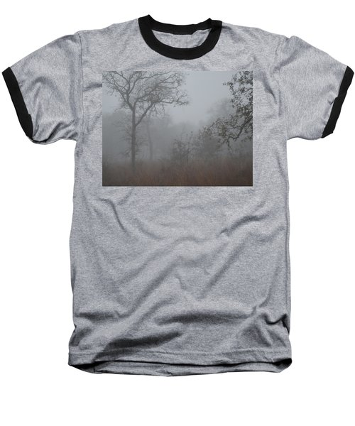Baseball T-Shirt featuring the photograph South Texas Fog I by Carolina Liechtenstein