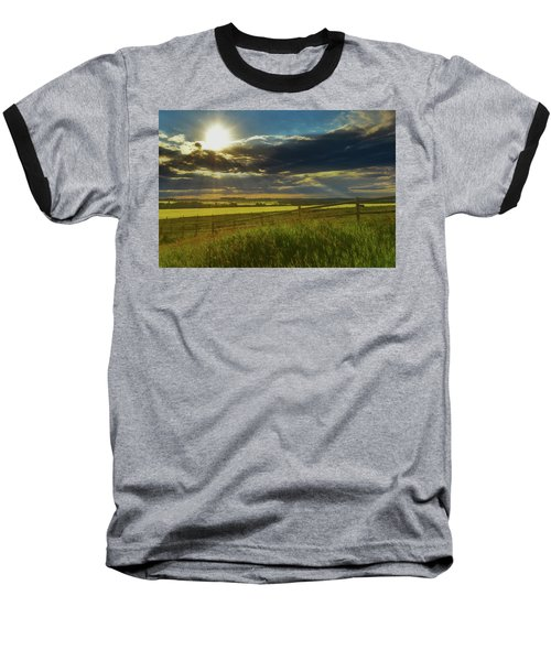 Southern Alberta Crop Land Baseball T-Shirt