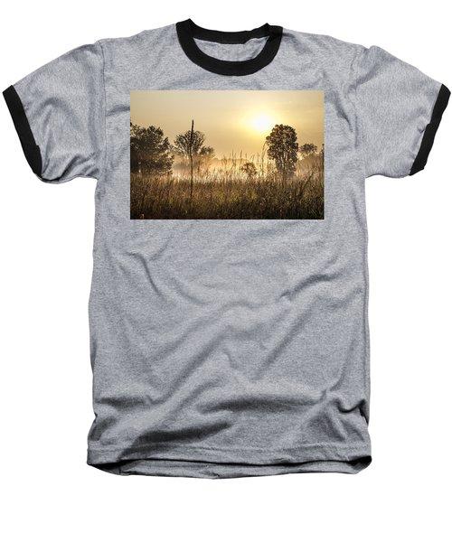 Southern Michigan Foggy Morning  Baseball T-Shirt