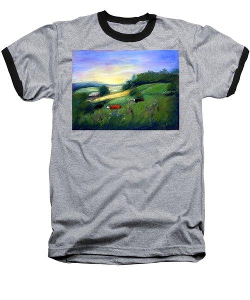 Baseball T-Shirt featuring the painting Southern Ohio Farm by Gail Kirtz