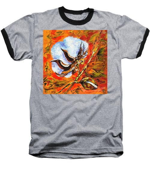 Baseball T-Shirt featuring the painting Southern Snow by Dianne Parks