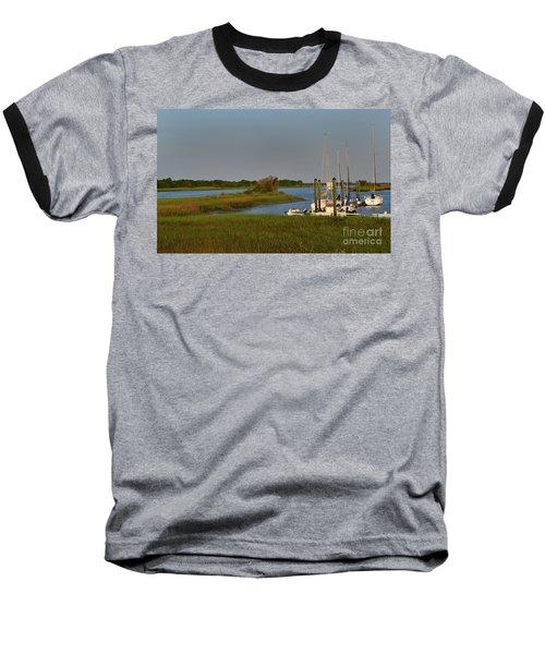 Southport Marina Sunrise Baseball T-Shirt