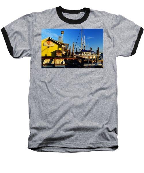 Southport Potters Seafood Pier Baseball T-Shirt