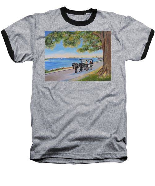 Baseball T-Shirt featuring the painting Southport Stroll by Shelia Kempf
