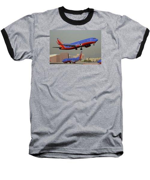 Southwest Boeing 737-3h4 N392sw Phoenix Sky Harbor December 2 2015 Baseball T-Shirt