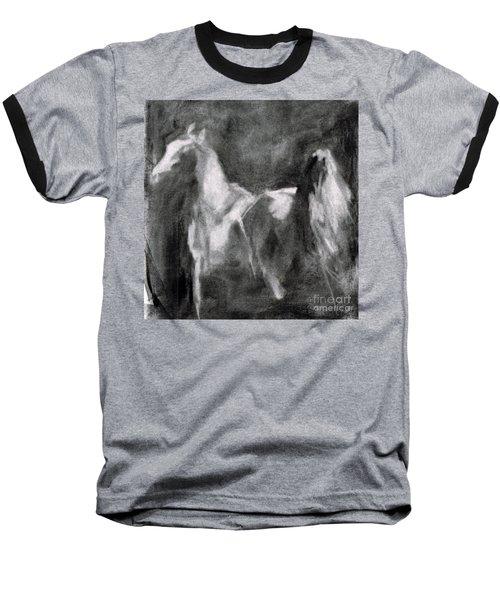 Southwest Horse Sketch Baseball T-Shirt by Frances Marino
