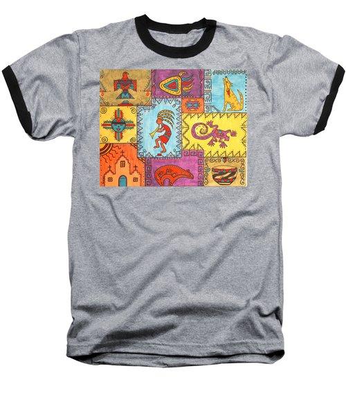 Southwest Sampler Baseball T-Shirt by Susie WEBER