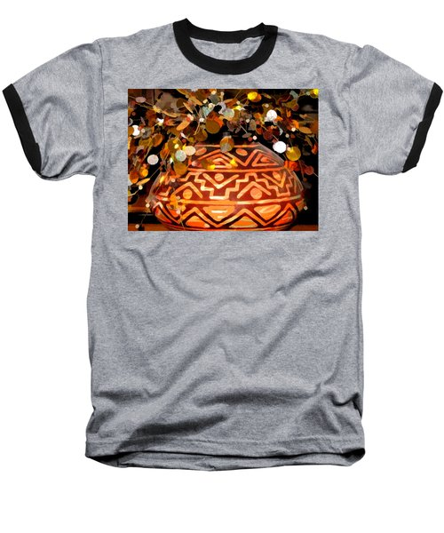 Baseball T-Shirt featuring the digital art Southwest Vase Art by Gary Baird