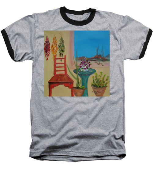 Baseball T-Shirt featuring the painting Southwestern 6 by Judith Rhue