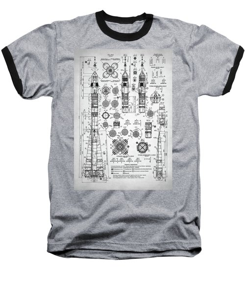 Soviet Rocket Schematics Baseball T-Shirt by Taylan Apukovska