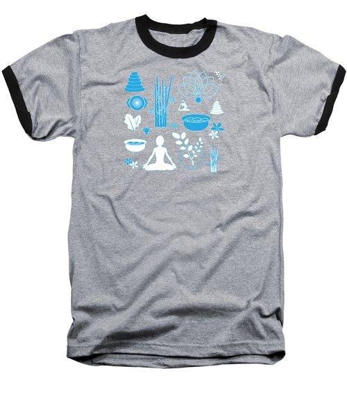 Spa Background Baseball T-Shirt by Serena King