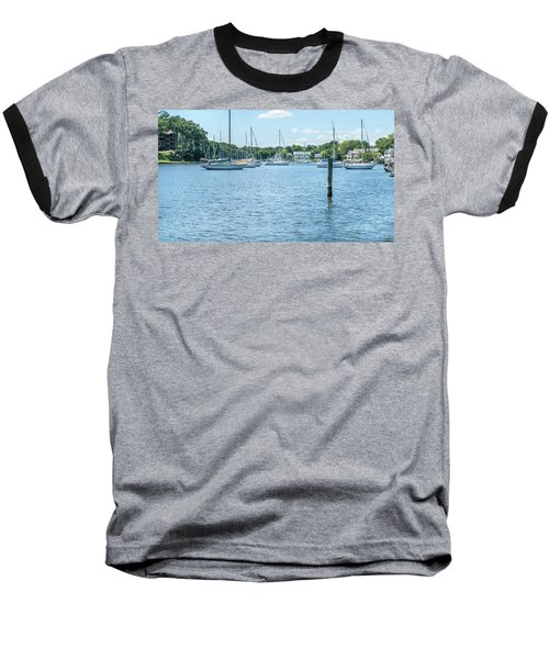 Baseball T-Shirt featuring the photograph Spa Creek In Blue by Charles Kraus