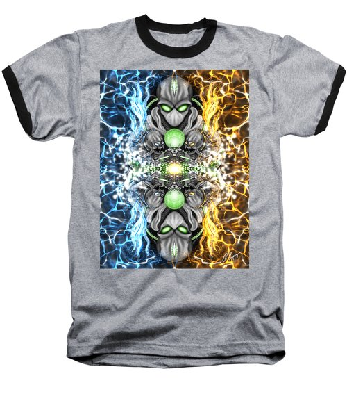 Space Alien Time Machine Fantasy Art Baseball T-Shirt