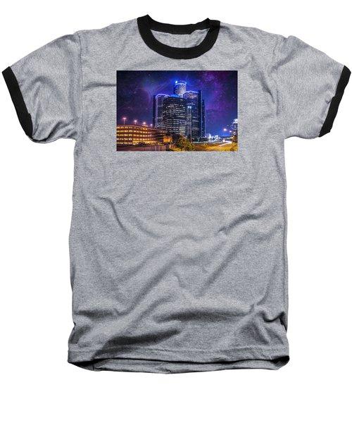 Baseball T-Shirt featuring the photograph Space Detroit by Nicholas  Grunas