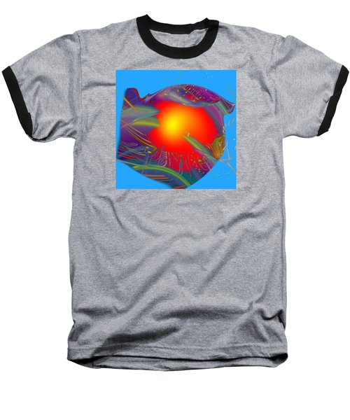 Space Fabric Baseball T-Shirt by Kevin Caudill