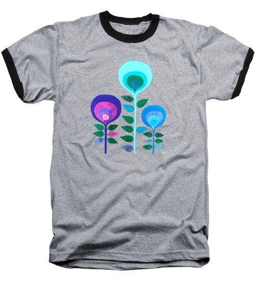Space Flowers Baseball T-Shirt