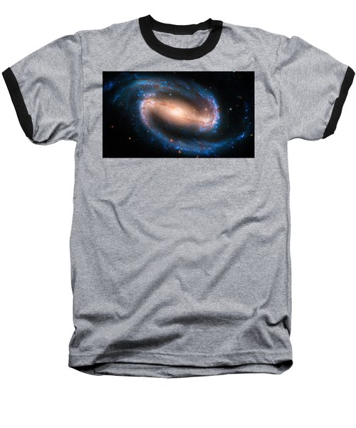 Space Image Barred Spiral Galaxy Ngc 1300 Baseball T-Shirt by Matthias Hauser