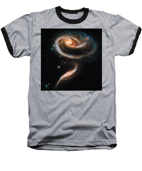 Space Image Galaxy Rose Baseball T-Shirt
