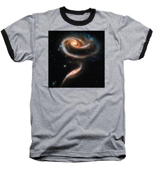 Space Image Galaxy Rose Baseball T-Shirt