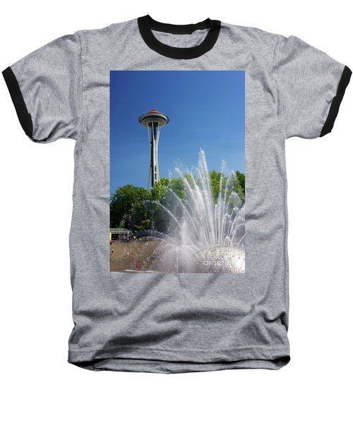 Space Needle In Seattle Baseball T-Shirt