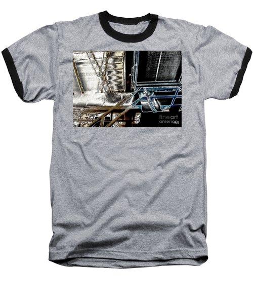 Space Station Baseball T-Shirt by Marsha Heiken
