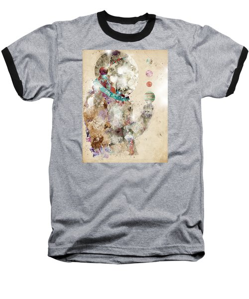 Baseball T-Shirt featuring the painting Spaceman by Bri B