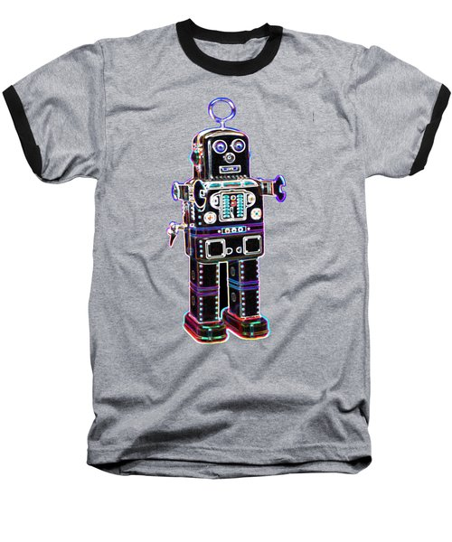 Spaceman Robot Baseball T-Shirt