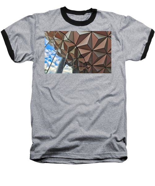 Spaceship Earth And Sky Baseball T-Shirt