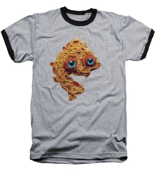 Spaghetti Face Baseball T-Shirt