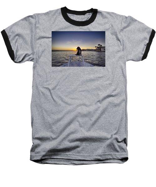 Spaniel At Sunset Baseball T-Shirt
