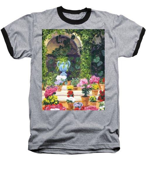 Spanish Courtyard Baseball T-Shirt