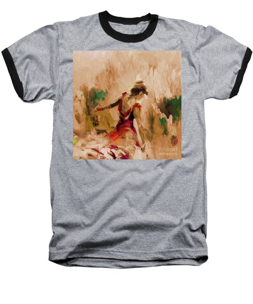 Baseball T-Shirt featuring the painting Spanish Dance Culture  by Gull G